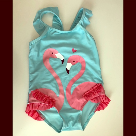 First Impressions Other - Baby Girls Flamingo Swimsuit